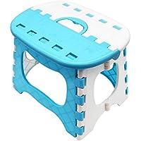 APIKA Taburete Plegable del Paso para los Cabritos Portable plástico Que Lleva fácil Conveniente para el Uso Que acampa de la Pesca del Viaje al Aire Libre(Azul)