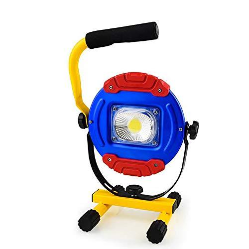 ZONGJIE LED Baustrahler, 30W 1500LM Außenstrahler 360°Drehen aufladbare Arbeitsleuchte 3 Helligkeits modi flexibel Mobile LED Strahler Flutlicht für Werkstätte Baustelle Garage Arbeiten -