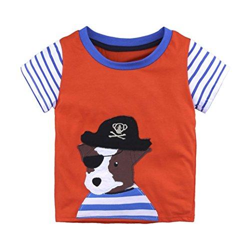 sommer baby Gemütlich sport t-shirt Mädchen jungen bunt muster druck locker blusen niedlich Kleinkind oberteile süße Meer Schiff Baumwolle tops, 0-6 Jahren (3 Jahren, D) (Herr D Kostüm)