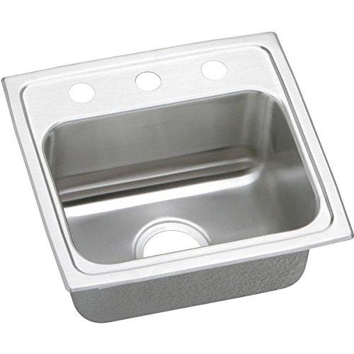 Elkay PSR17161 1-Hole Gourmet 16-Inch x 17-Inch Single Basin Drop-Inch Stainless Steel Kitchen Sink by Elkay (Elkay 16)