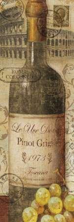 Européenne Wines I par Charron, Véronique–Fine Art Print Disponible sur papier et toile, Toile, SMALL (12 x 36 Inches )