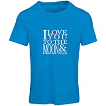 N4152F Camiseta Mujer I Love You to The Moon and Back Love, Great St.