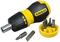 Idea Regalo - STANLEY 0-66-358 - Multipuntas extracorto con carraca + 6 puntas