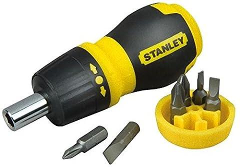 Stanley 0-66-358 Tournevis porte embouts boule à cliquet bimatière +