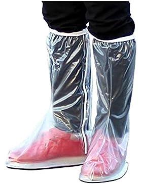 Aidonger Wasserdicht Regen Rutschfestem Schuhe Abdeckung Pair Überschuhe Shoe-Covers (M: (Schuhgröße : 38-39))