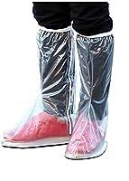 Aidonger Waterproof Rain Pair Non-slip Men Women Girls Boys Shoes Cover Overshoe Shoe Covers (M)