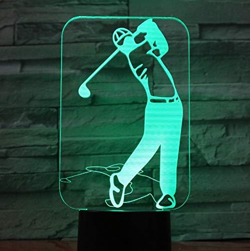 Lámpara De Ilusión Lámpara Led 3D 7 Lámpara De Acrílico Colorida Luces Para El Hogar Presupuesto Regalo Para Esposo Padre Amigos Lámpara De Jugador De Golf