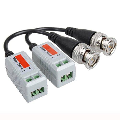 PhilMat Twisted BNC CCTV Video Balun Passive Transceivers UTP Cat5 Video Balun Cat5 Transceiver