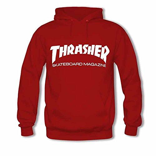 Womens Hooded Sweatshirt Thrasher Logo Skateboard Magazine Cotton Hoodie XL