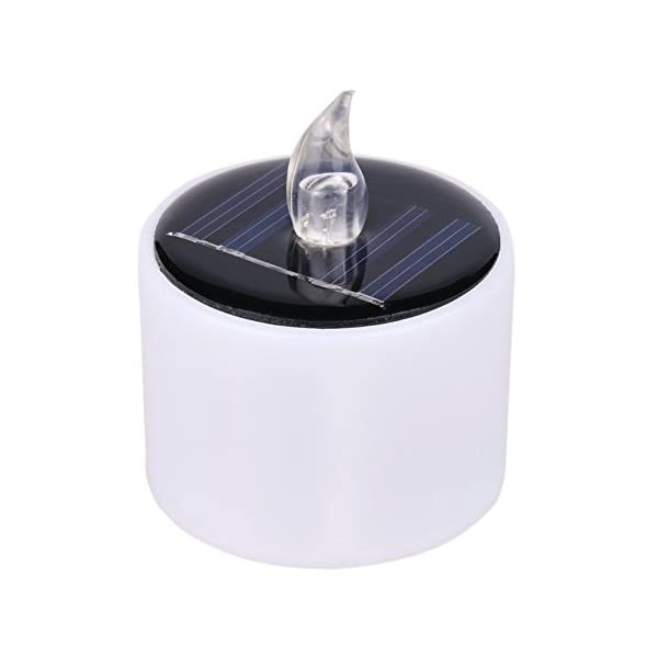 Set of 6 Solar Candles Warm White Flickering Solar powered Flameless LED Candle Tea Light Perfect for Christmas…