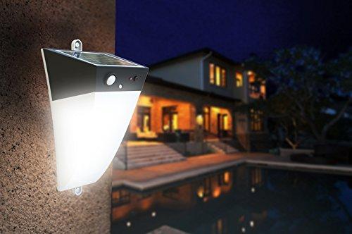 LED Flutlicht Fluter Strahler Außenlampe Solarleuchte Bewegungsmelder Watt Solar Wandlicht #1202