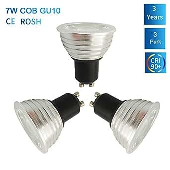 3 pack szmaya gu10 led light bulbs non dimmable aluminum material 75w halogen bulbs equivalent. Black Bedroom Furniture Sets. Home Design Ideas