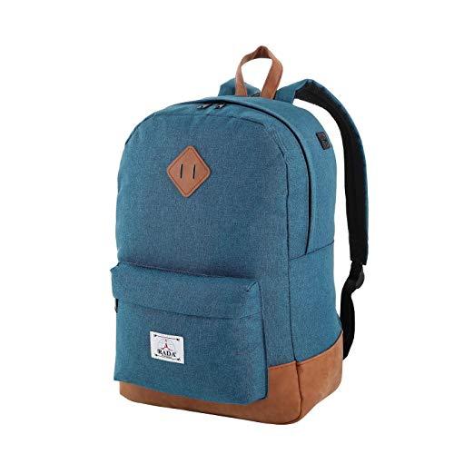 5dce206a0e Rada lässiger Jugend Rucksack mit 14 Zoll Notebookfach für Teenager und  Erwachsene - Studenten Daypack Schule oder Alltag (New Blue)