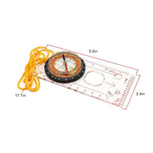 41QI8d60RyL. SS500  - Topker Outdoor Camping Directional Cross-country Race Hiking Special Compass Baseplate Ruler Map Scale Compass
