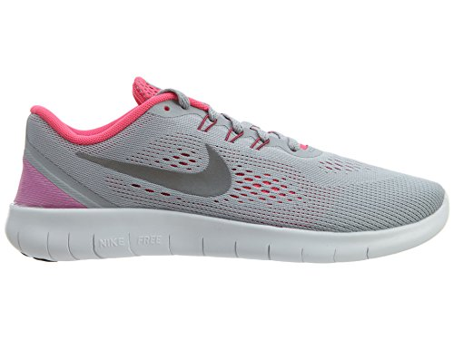 Nike Free Rn (Gs), Chaussures de Course Femme Gris (Wolf Grey / Metallic Silver-White-Black)