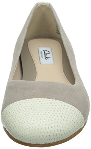 Clarks Festival Gold, Ballerines femme Gris (Shingle)