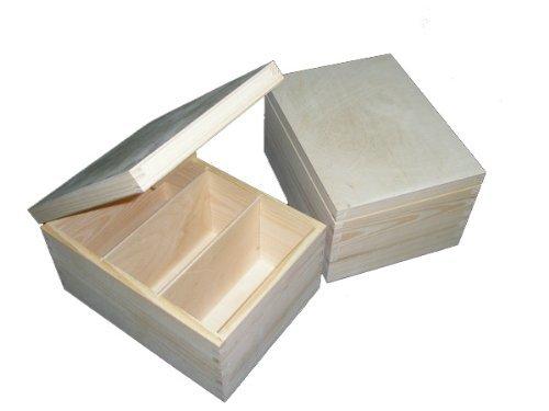 Holzbox Aufbewahrungsbox CD- Brief- Dokumenten- Andenkenbox - Handarbeit