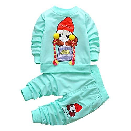 Baywell Kinder Baby Mädchen Kleidung Herbst Sets Kleinkind Mädchen Kleidung Nette Langarm T-Shirt Tops + Hosen Rock 2 Stücke Baby Anzug Outfits - Langarm T-shirt Rock
