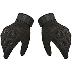 Hikong Herren Taktische Einsatzhandschuhe Handschuhe Sport Outdoor Fitness Training Fahrrad Motorrad Army Gloves Vollfinger 3 Farben