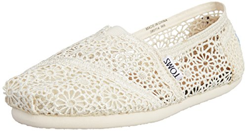 TOMS Crochet Shoes White 4 UK