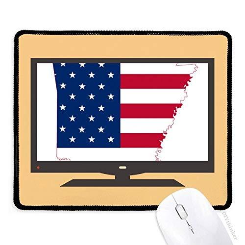 beatChong Arkansas Amerika-Karte Stern-Streifen-Flagge Form Computer-Maus-Pad Anti-Rutsch-Gummi Mousepad Spiel Büro -