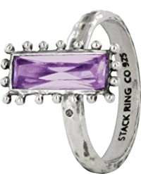 Stack Ring Co 925 Sterling Silver Chantilly Purple CZ Stackable Ring