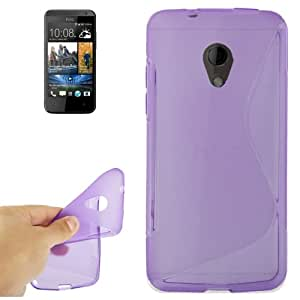 S Line Anti-skid Frosted TPU Protective Case for HTC Desire 700 (Purple)