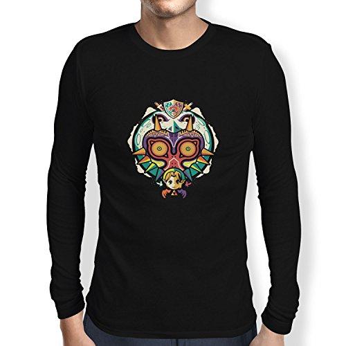 Texlab Legendary Moon - Herren Langarm T-Shirt, Größe L, Schwarz