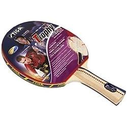 Stiga trofeo ping pong Ittf aprobado cóncavo de la paleta de la manija