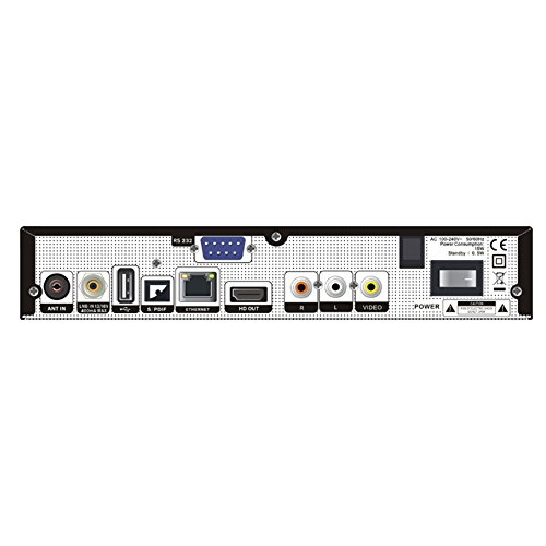 Edision, PICCOLLO, Combo Ricevitore S2+ T2/C H.265/HEVC (DVB-S2, DVB-T/T2, DVB-C), Full HD, USB Nero