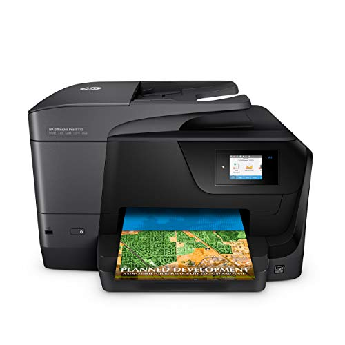 HP OfficeJet Pro 8710 Multifunktionsdrucker (Instant Ink, Drucker, Scanner, Kopierer, Fax, WLAN, LAN, Duplex, Airprint) (Drucker All In One Wireless Hp)
