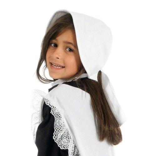 Charlie Crow Déguisement Blanc Bonnet pour les filles. Taille unique 3-9 ans.