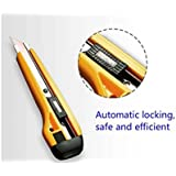 TOTAL HOME : Premium Quality Cutter Knife Auto Lock, 20mm - Pack of 1 For Craft Purpose