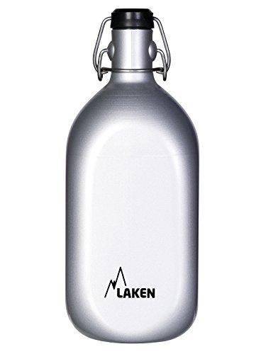 Laken Cuadrada Aluminium Wasser Flasche mit Druck grolsch-Type Top 34Unzen.