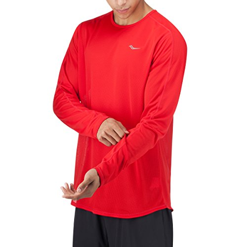 Saucony Damen Herren Hydralite Long Sleeve Top Strong Red
