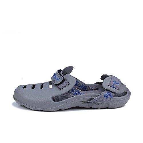 Transpirable Agujero Lin Xing De De Gris Hueco Los Playa Verano Zapatos Hombres Zapatillas Nuevos Sandalias ZwH6W1qT