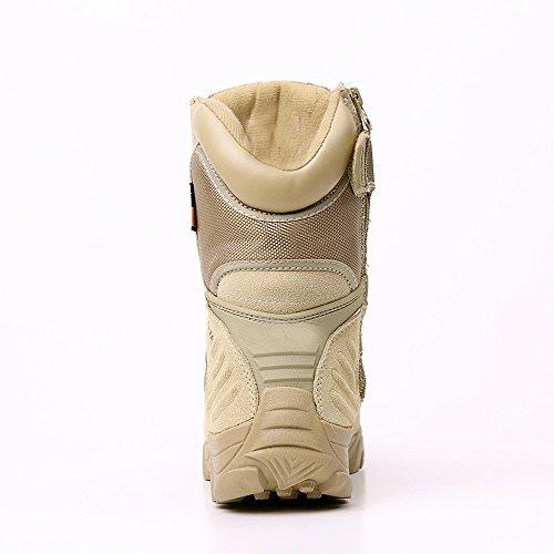 CHT Primavera All'aperto E Scarpe Da Trekking Da Uomo Autunno E In Inverno Desert Boots-size Nero Marrone Opzionale Brown
