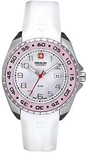 Swiss Military Hanowa - 06-6144.04.010 - Montre Femme - Quartz Analogique - Bracelet Silicone Blanc