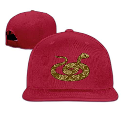 ZMYGH Brown Snake Snapback Unisex Adjustable Flat Bill Visor Baseball Cap -