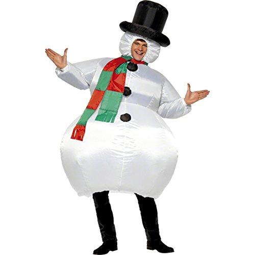 Imagen de traje hinchable atuendo muñeco de nieve inflable bola de nieve para hinchar vestimenta divertida de carnaval disfraz carnavalero adulto vestido navidad hombre alternativa