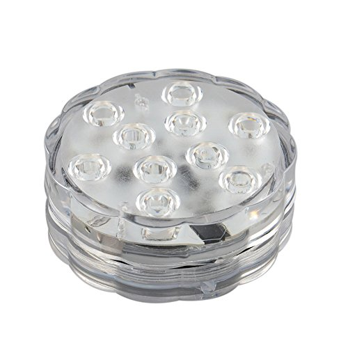 Gulin Unterseeische LED Lampen Fisch Tank Lichter mit Fernbedienung 10 LED Perlen Batteriebetriebenes IP68 Wasserdicht (Fernbedienung, Fisch)