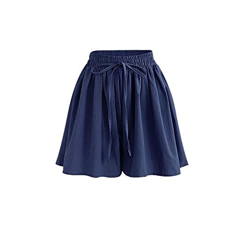 1dd54fb9422830 Aswinfon Kurze Hose Damen Sommer High Waist Locker Short Stoff Hosenrock  Kurz Hot Pants