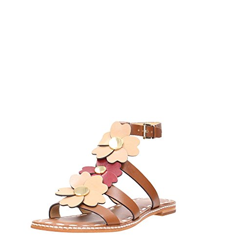 MICHAEL KORS DAMEN KIT FLAT TOFFEE SANDALEN Luggage/Toffee