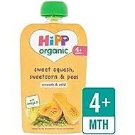 Hipp Organique Doux Squash, Maïs Et Pois Pochette 4 + Mths 100G - Paquet de 4
