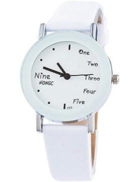 Souarts Damen Weiß Armbanduhr Quartz Analog Armreif Uhr mit Batterie