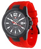 Swiss Alpine Military by Grovana Reloj de hombre rojo 7058.1876 10 ATM Swiss Made