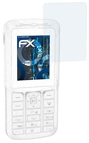 atFolix Schutzfolie kompatibel mit tiptel Ergophone 6210 Panzerfolie, ultraklare & stoßdämpfende FX Folie (3X)