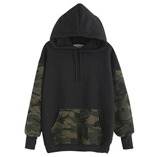 Oyedens Fashion Womens Loose Camouflage Pullover Sweatshirt Casual Hoodies Tops (XL)
