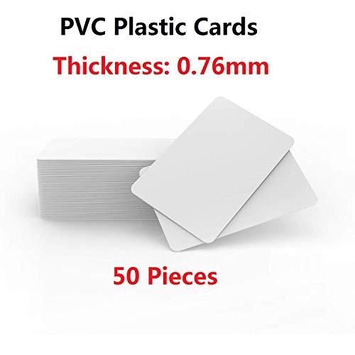 Zebra Plastikkarte Drucker (Timeskey NFC 50 Stück Premium Plastikkarten/PVC Karten Weiss, Rohlinge, blanko Kompatibel Mit ID Karten Drucker)