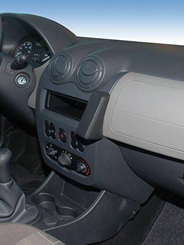 KUDA Telefonkonsole (LHD) für Dacia Sandero Logan (07/08)/ Duster Mobilia/Kunstleder schwarz